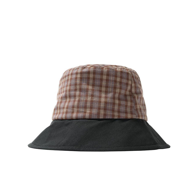 STUSSY MIX PLAID BUCKET HAT BLACK 132999