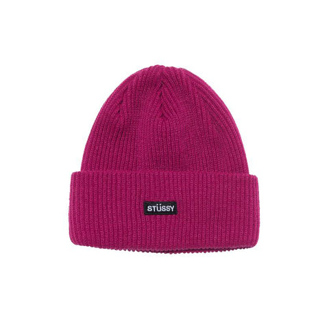 STUSSY PATCH CUFF BEANIE BERRY 132965-BERR