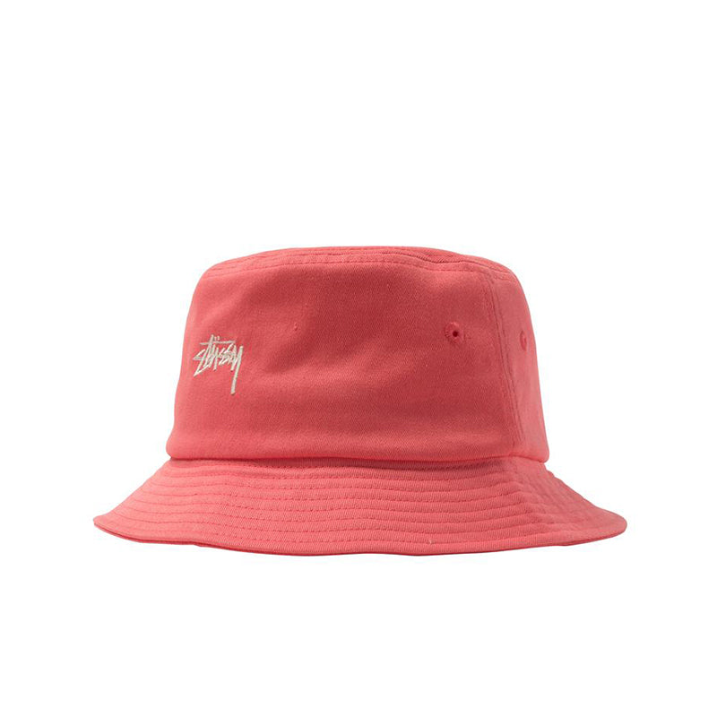 STUSSY STOCK BUCKET HAT RED 132974