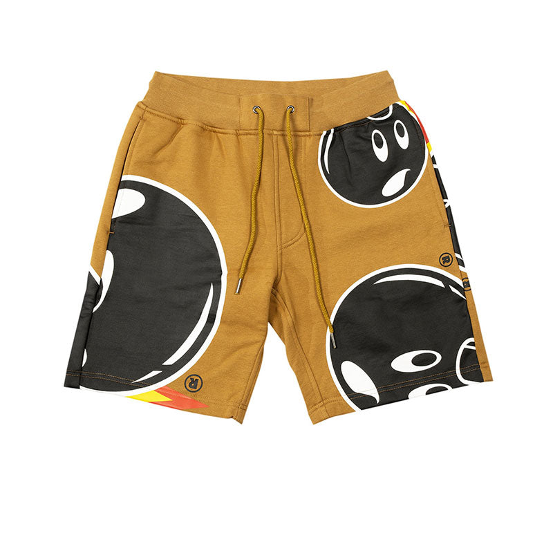 THE HUNDREDS MAD ADAM SWEATSHORTS DARK KHAKI Q20W105004