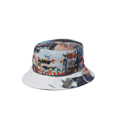 XLARGE LA CHINATOWN BUCKET HAT BLACK 101202051003