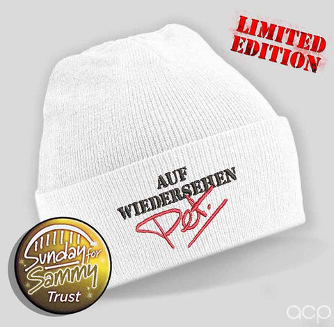 Brickie Logo Beanie White - Ltd Edition!