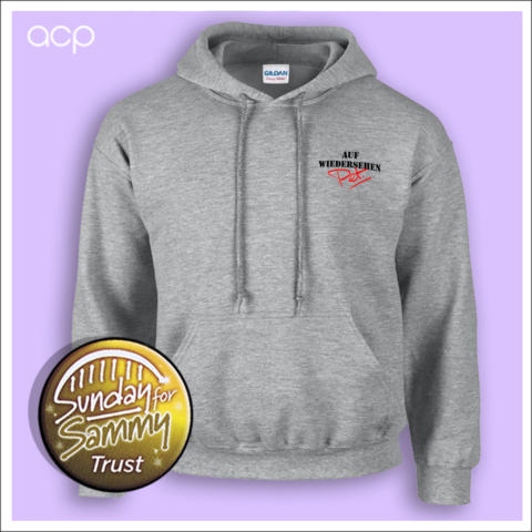 Embroidered Logo Hoodie Grey