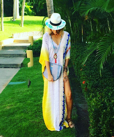Wanderlista by Andria Mitsakos shows her mid-week style at Four Seasons Resort Punta Mita, Mexico