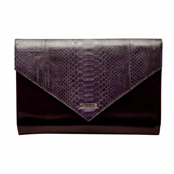 Evros<br>Oversized Envelope, Black/Purple