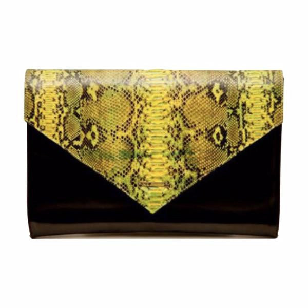 Evros<br>Oversized Envelope, Black/Yellow