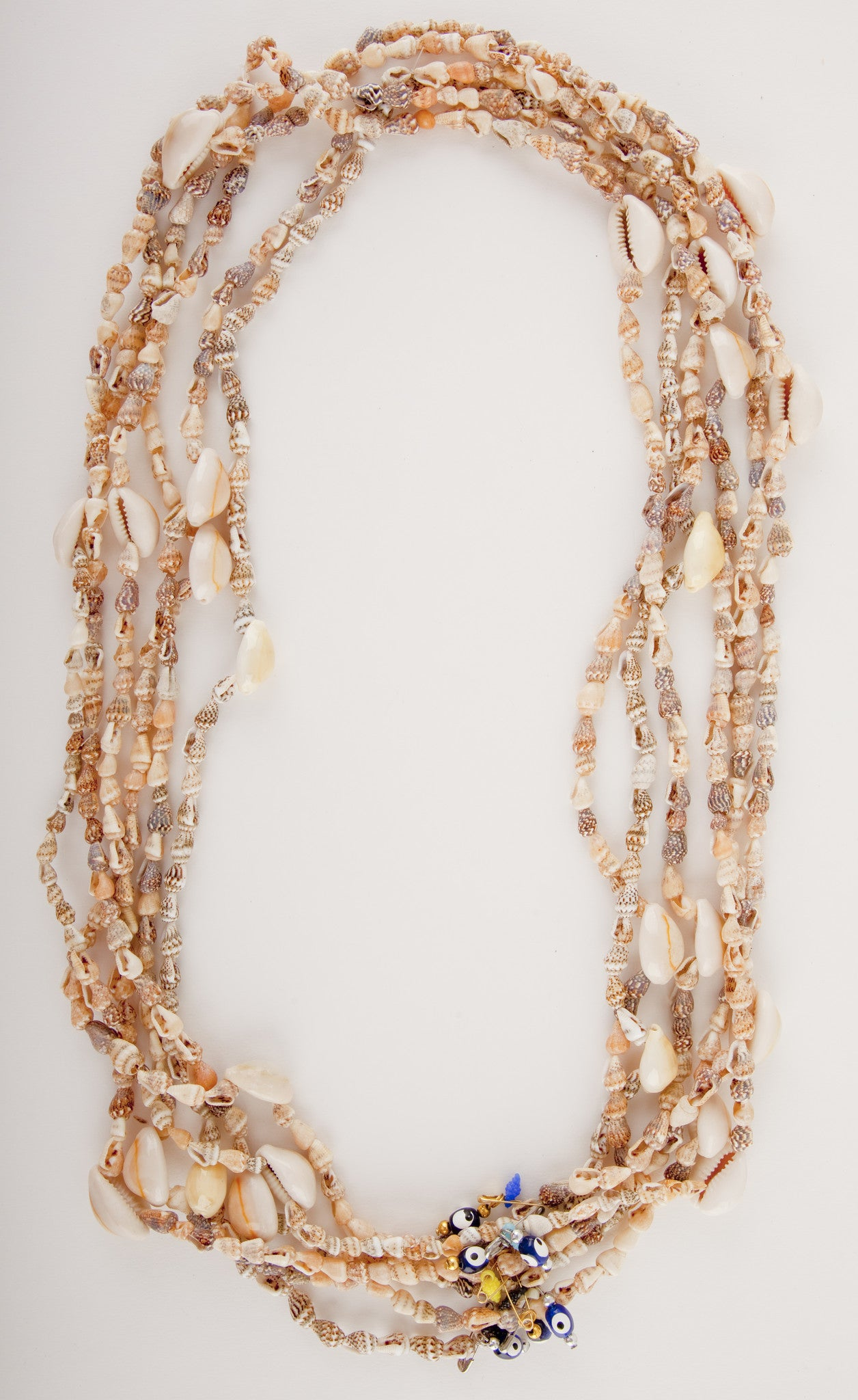 MERAKI BY WANDERLISTA <br> Fiji Shell Necklace With Evil Eye Charm