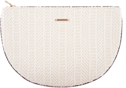 DELOS<br>Folk Cream Half Moon Textile Bag