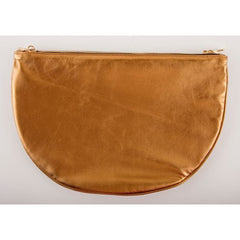 ARTEMIS<br>Bronze Leather Double Half Moon Bag