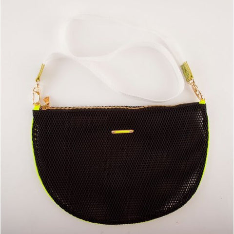 DELOS<br>Cotton Webbing Half Moon Bag