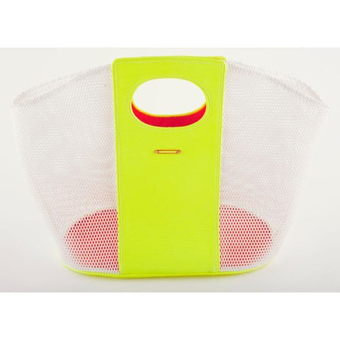 SOSTIS<br>Neon Yellow Leather, White Cotton Webbing
