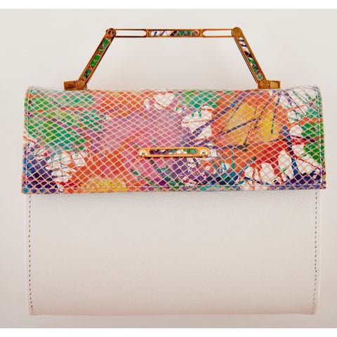 ZEFYROS<br>White Leather/Splatter Leather Flap
