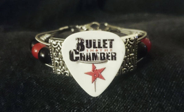 Bullet In The Chamber Guitar String Bracelet