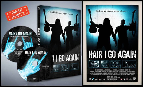 ORIGINAL RELEASE | Hair I Go Again Signed DVD 2-Disc Collector's Edition + BONUS 18x24 Movie Poster