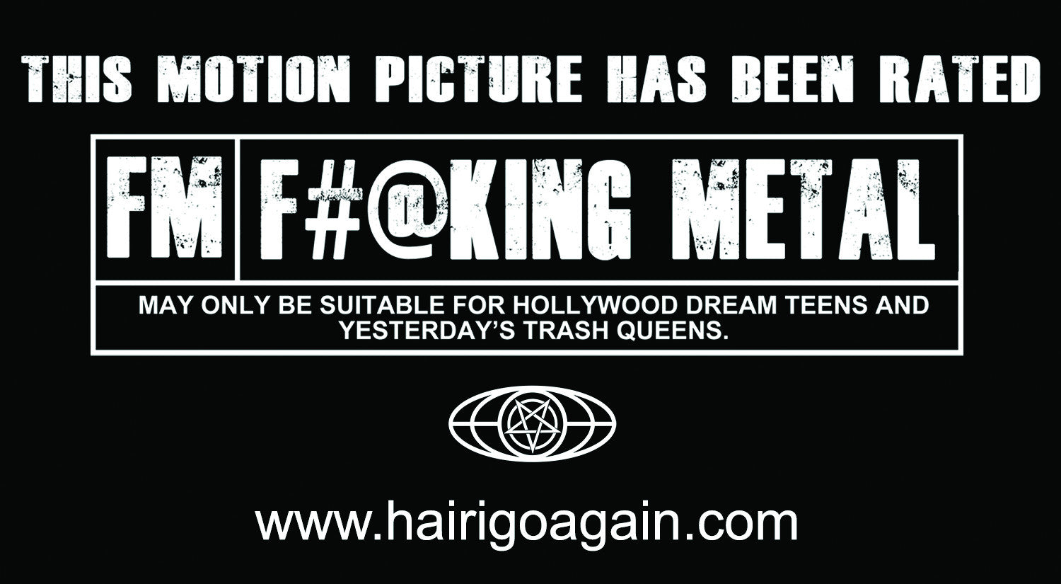 Hair I Go Again | F#@king Metal 5x3 Decal 6-Pack
