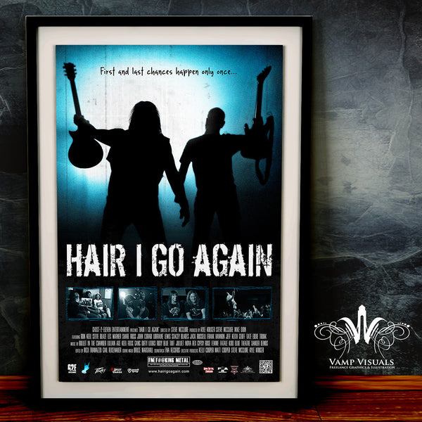 Signed 18x24 Hair I Go Again Movie Poster