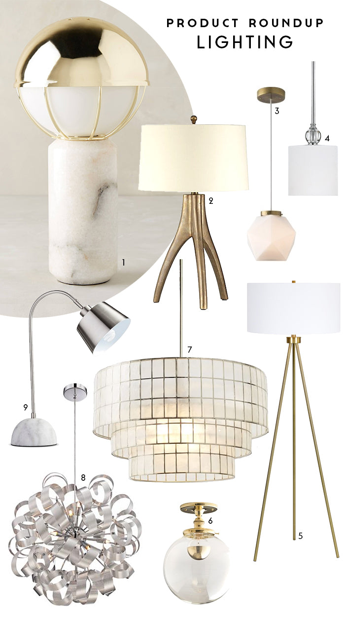 Savannah Hayes Product Roundup / Lighting: Mixing Metals