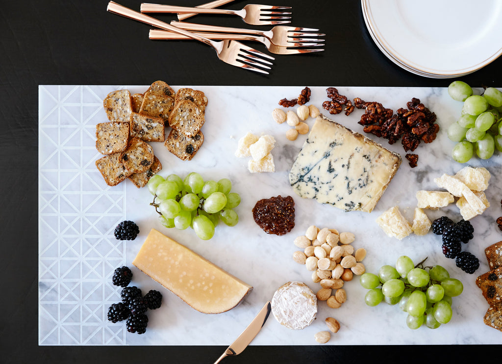 Carrara Marble Cheese Board Modern Home Decor │ Savannah
