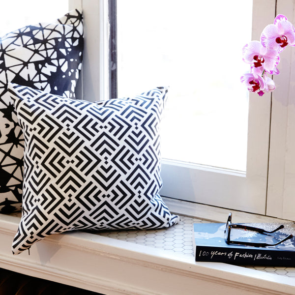 Savannah Hayes Zadar Throw Pillow - Modern, Geometric Home Decor for the Living Room and Bedroom