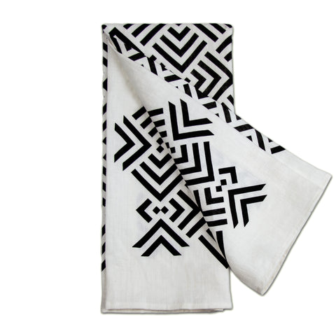 Savannah Hayes Zadar Tea Towel - Modern, Geometric Textiles for the Home
