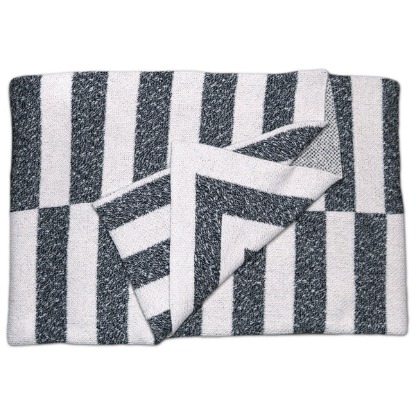 Savannah Hayes Aquino Throw Blanket - Modern, Geometric Home Decor for the Living Room and the Bedroom