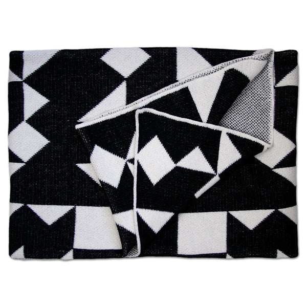 Savannah Hayes Izmir Throw Blanket - Modern, Geometric Home Decor for the Living Room and the Bedroom