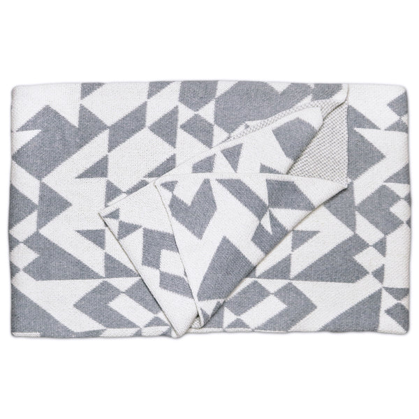 Savannah Hayes Madrid Throw Blanket - Modern, Geometric Home Decor for the Living Room and the Bedroom