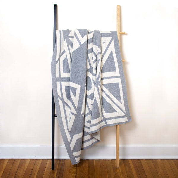 Savannah Hayes Milas Throw Blanket - Modern, Geometric Home Decor for the Living Room and the Bedroom