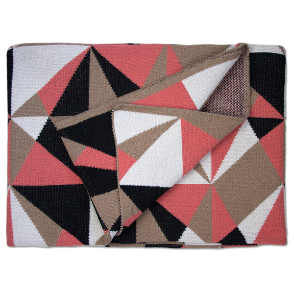 Savannah Hayes Odessa Throw Blanket - Modern, Geometric Home Decor for the Living Room and the Bedroom