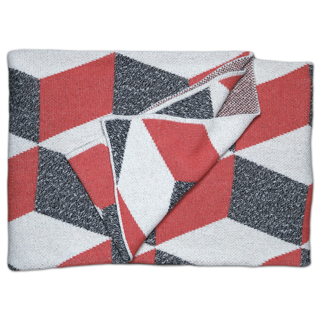 Savannah Hayes Taormina Throw Blanket - Modern, Geometric Home Decor for the Living Room and the Bedroom