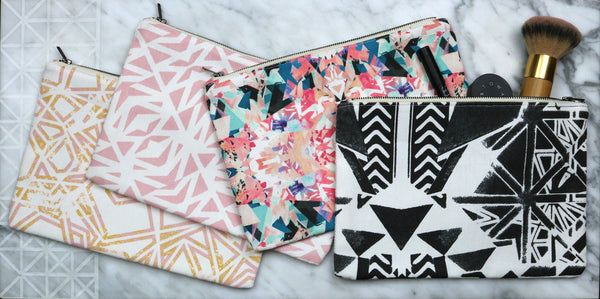 Savannah Hayes Lisbon Zip Pouch - Makeup Bag & Travel Organizer