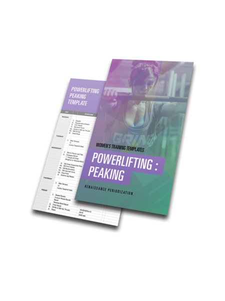 Powerlifting Peaking Template