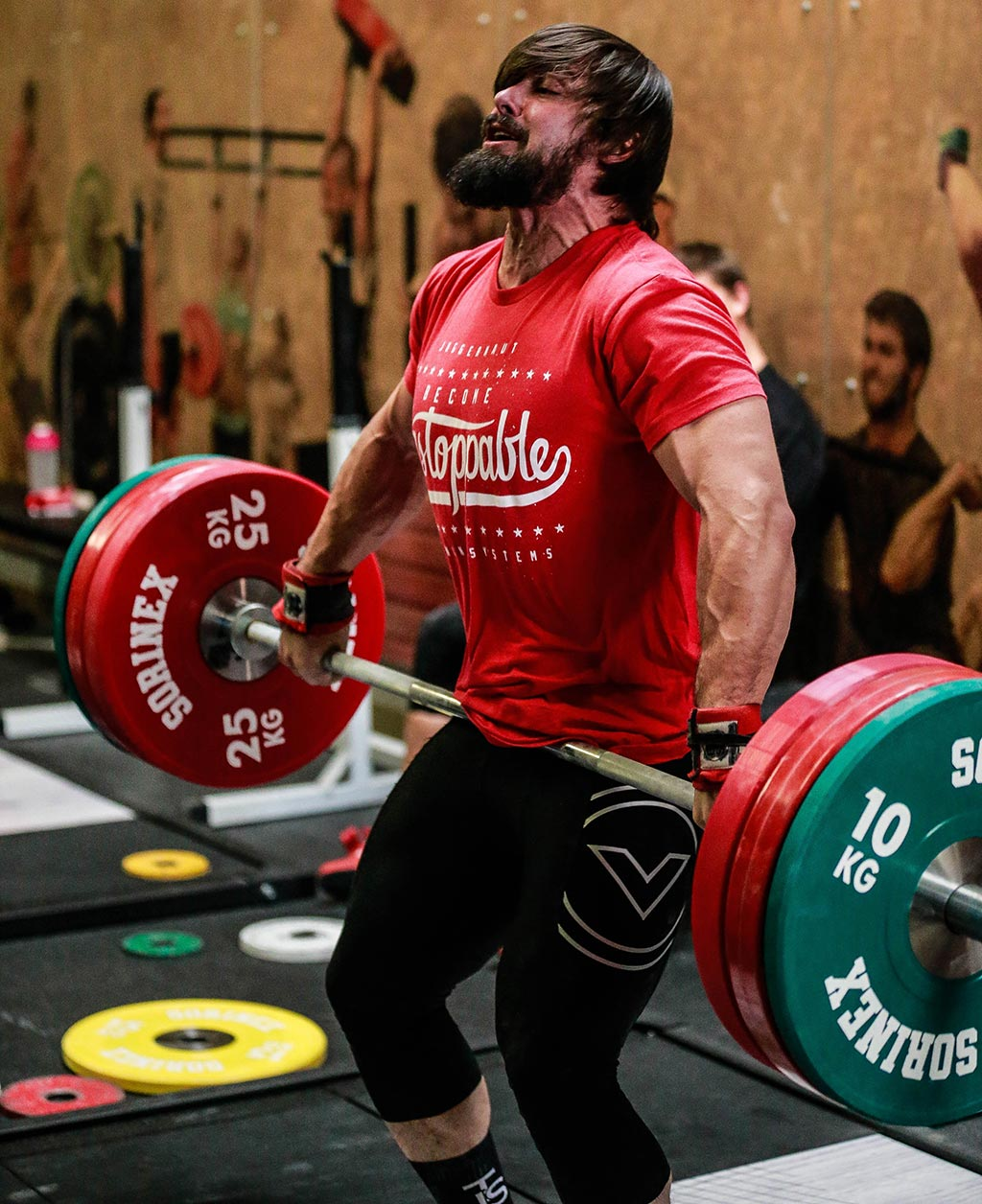 Weightlifter bro with beard and veins