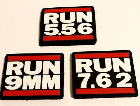 RUN PVC  Velcro Patches