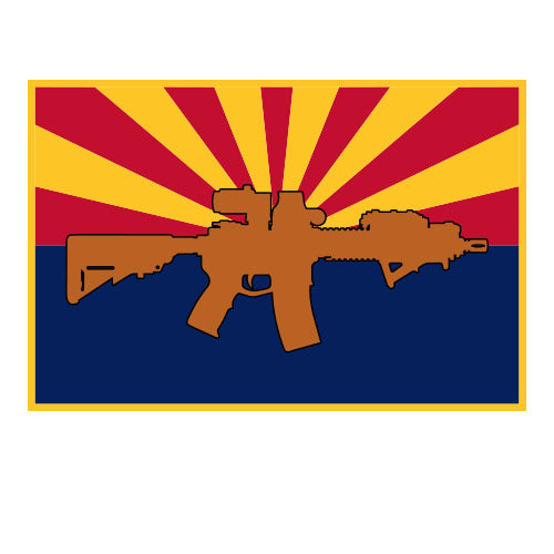 Arizona rifle flag sticker