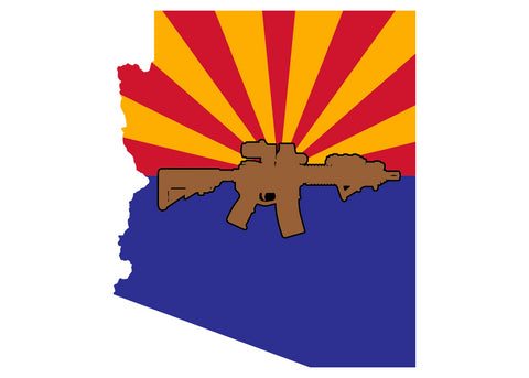 Arizona State flag MK18 Sticker (color)