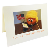 Donald Tangerine Trump greeting card