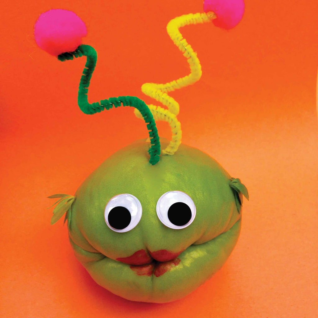 Chayote squash alien character celebrating a birthday