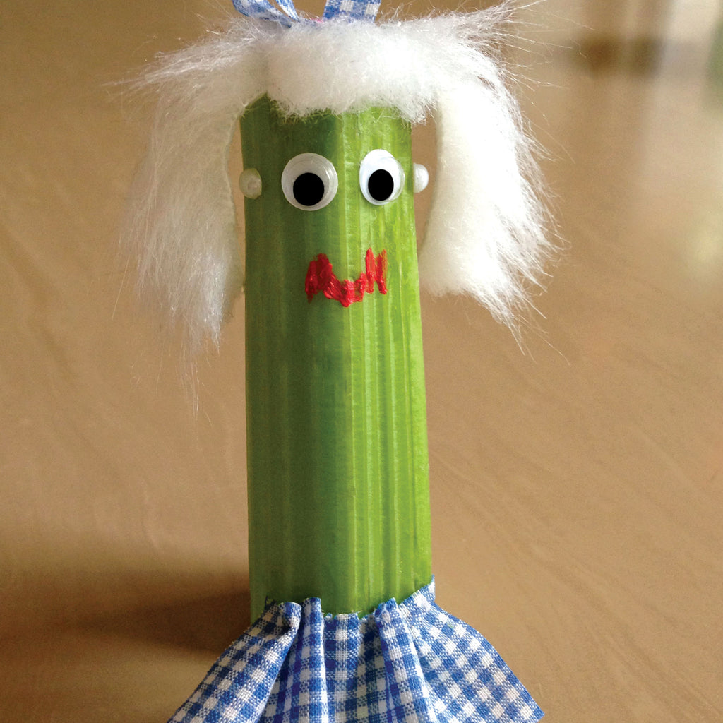 Miss Celery character from Wee the Veggies