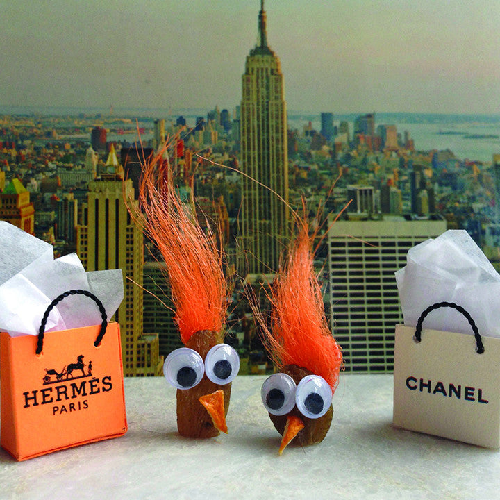 Two nuts shopping in the Big Apple