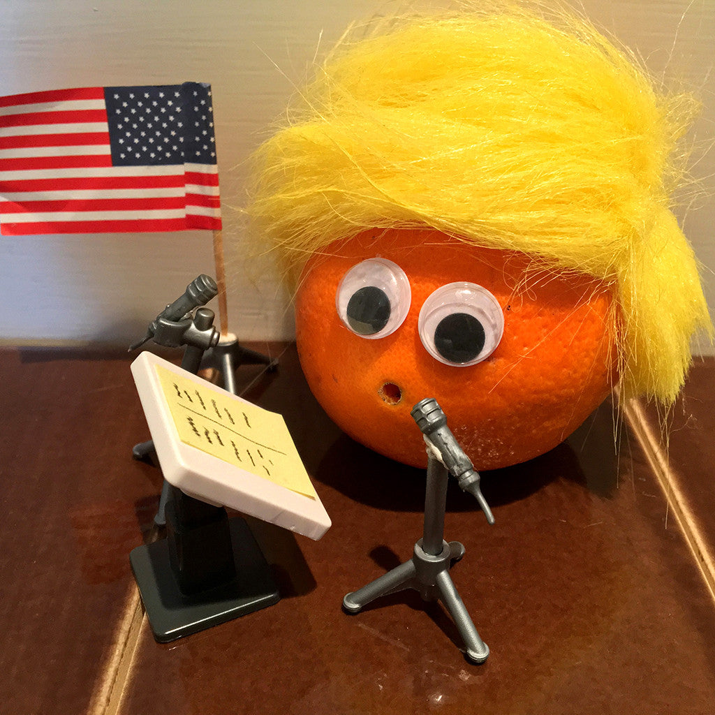 Donald Tangerine Trump fruit character