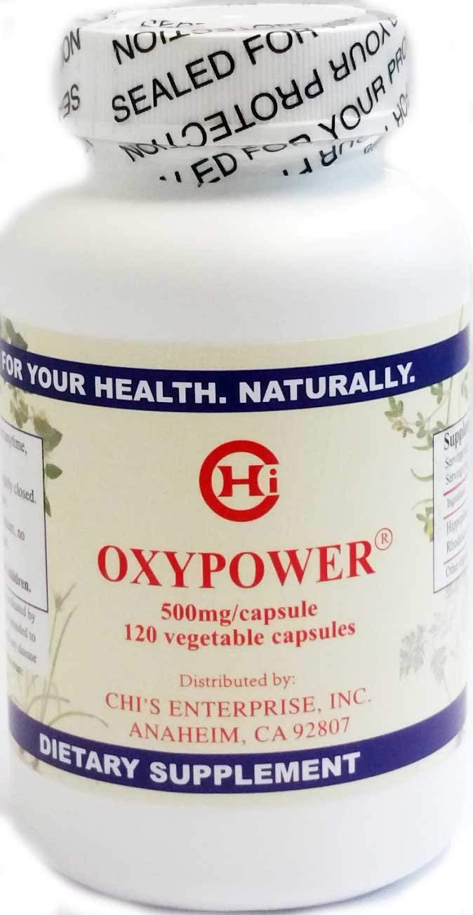 Chi's Enterprise OxyPower 500mg, 120 Capsules