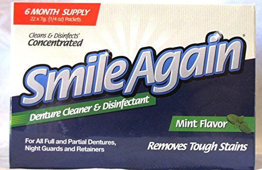 Smile Again Denture Cleaner, Mint Flavor, 7g