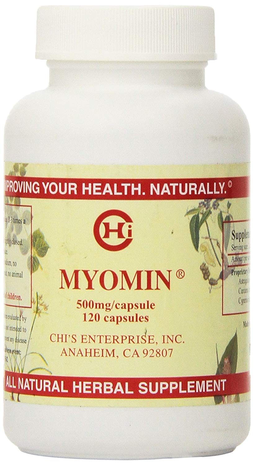 Chi's Enterprise 120 Piece Myomin Promotes Healthy Hormone Levels 500mg Capsules