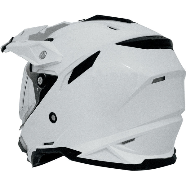 AFX FX-41DS ADVENTURE HELMET GLOSS WHITE - Alhawee Motors