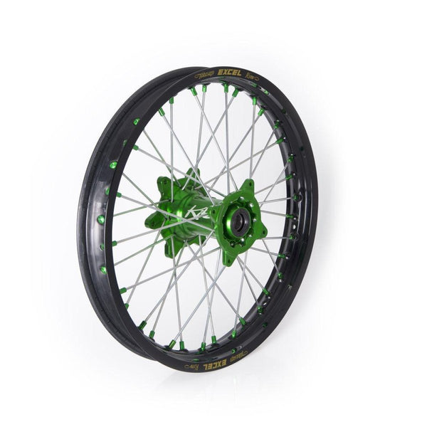 "WHEEL ASSEMBLY SPORT MX-EN REAR ALUMINIUM 2.15"" X 19"" GREEN - Alhawee Motors"