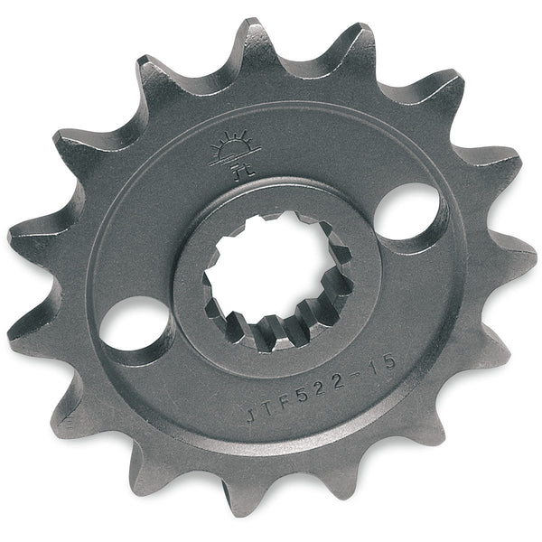 JT SPROCKETS JTF565.13SC FRONT SELF CLEANING SPROCKET 13 TEETH 520 PITCH NATURAL STEEL - Alhawee Motors