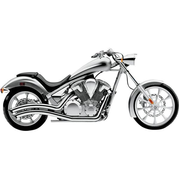 SPEEDSTER SWEPT EXHAUST CHROME HONDA - Alhawee Motors