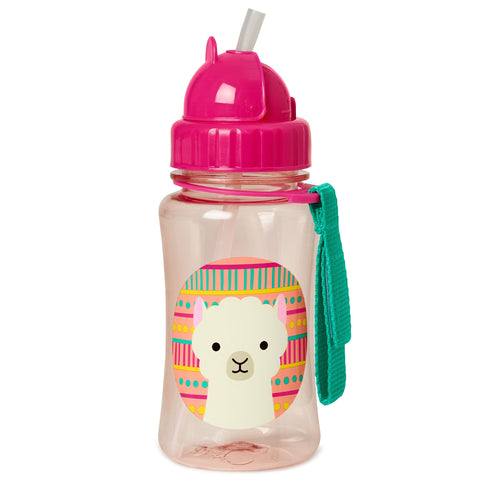 Zoo Straw Bottle Llama