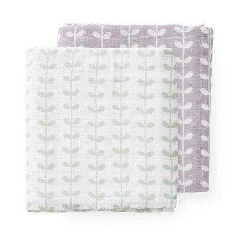 Leaves Muslin Set - 2 pack